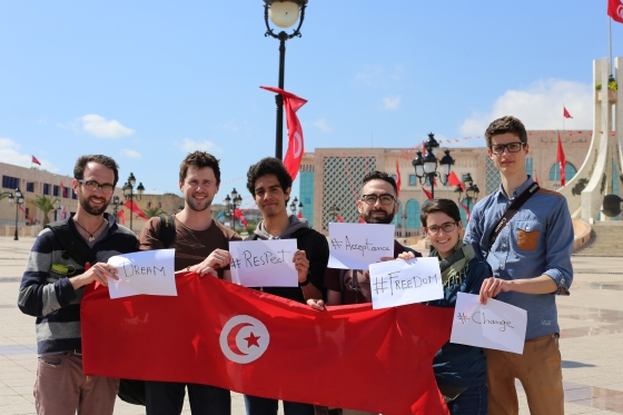 We were approached and asked by some Tunisian students to be a part of their school project.