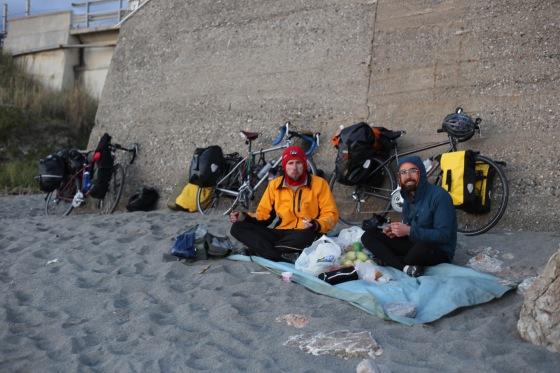 Last campsite in Calabria