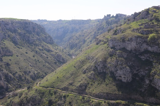 The gorge where Matera was built